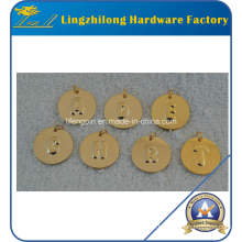 Gold Round Shape Letter Charms