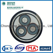 Factory Wholesale 15kv 3x240mm mv aluminum power cable