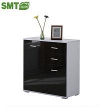Глянцевая боковая корпусная мебель многоцветный светодиодный светло-черный