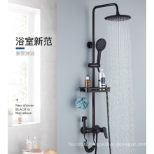 New Design Black Modern shower faucet  Single Handle Bath Shower  Set Sanitary Fitting Square with Spray Gun  Bath Shower Set