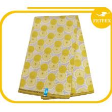 tela africana de la cera de la tela impresa cera de la tela del algodón / del poliéster para los vestidos de boda