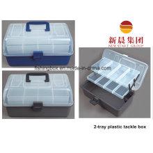 2-лоток прозрачной крышкой пластиковая организованной коробка
