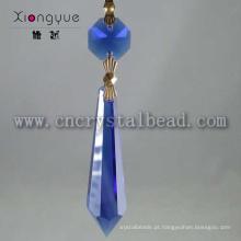 Pingente lustre azul e prismas de cristal para venda