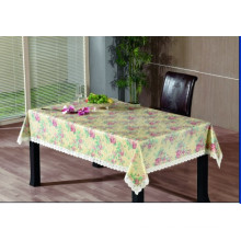 PVC Embossing Tablecloth with Flannel Backing (TJG0016)