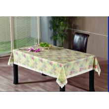 Toalha de mesa de gravação em PVC com apoio de flanela (TJG0016)