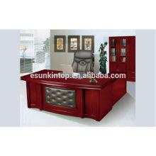 Conception de table de bureau en bois de style moderne avec Lshape