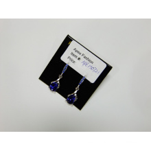 Blue with Gemstone Pendant Earrings