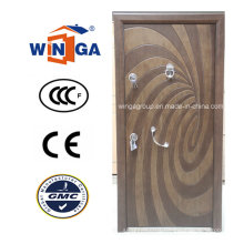 Art Style Winga Security Steel MDF Veneer Armored Door (W-T04)