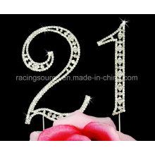 Aniversario de cumpleaños del partido de la torta de boda del número de Sparkly del vintage