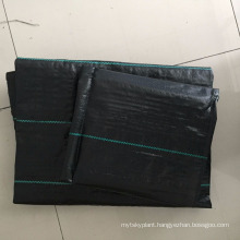 Agricultural black pp woven weed controlling mat