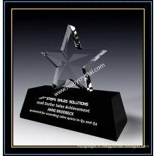 Cadeau de trophée Crystal Star Award de 6 pouces de hauteur (NU-CW864)
