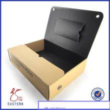 Empacotamento feito sob encomenda da caixa da camisa do papel do cartão / caixa de empacotamento da camisa com a tampa da janela do PVC