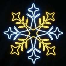 Le flocon de neige IP65 extérieur de Noël a mené des lumières de Noël