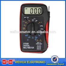 pequeño multímetro digital DT83B con prueba de batería