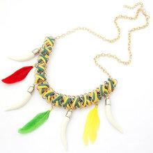 Yiwu Punk farbigen Kunststoff Kette Link Perlen Quaste Halskette