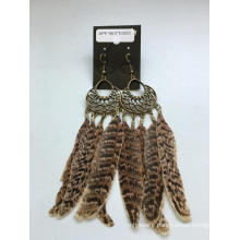 Wholesale Ethnic Feather Earrings with Metal