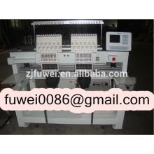 FUWEI 2 Köpfe 15 Farben computergestützte Stickmaschine für Logo Stickerei Maschine