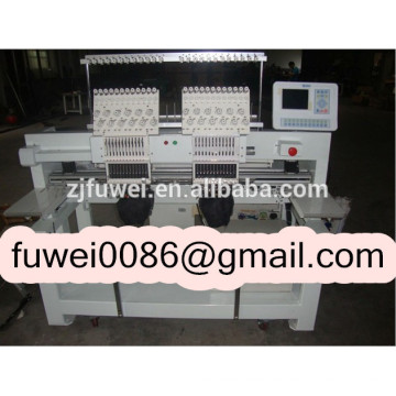FUWEI 2 heads 15 colors computerized embroidery machine for Logo embroidery machine