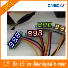"Mini 0.28 ""Volt Meter DC 0-100V DC Voltímetro Digital Verde Painel LED Monitor de Potência"