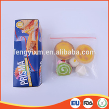 PE transparent resealable snack food plastic bag