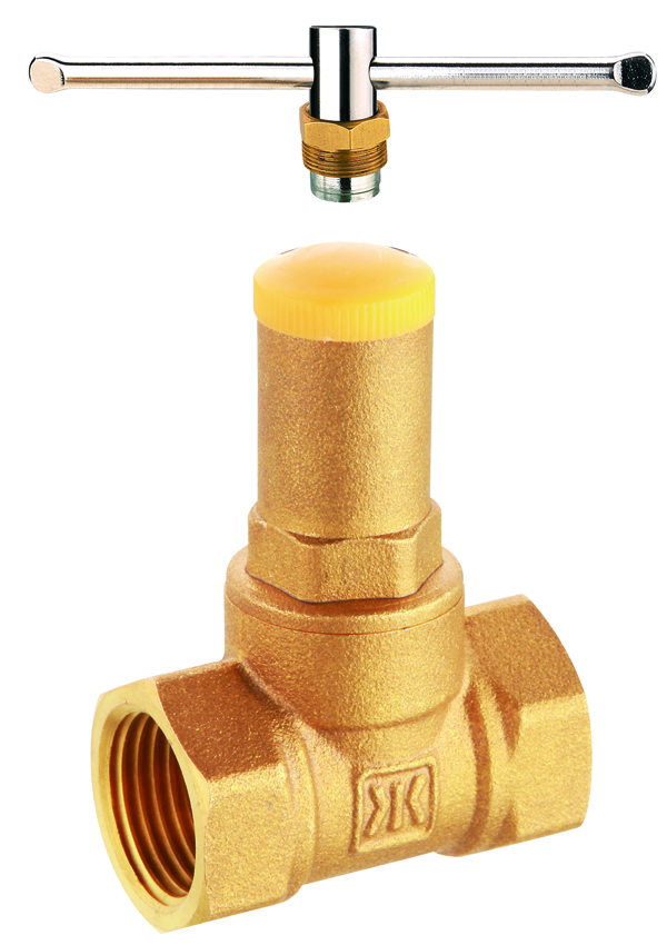 brass lockable stop valve check valve with screw handle