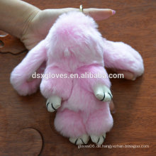 Bestes Mädchen-Freund-Geschenk Nettes reizendes Pelz-Kaninchen-Schlüsselkette Geburtstags-Geschenk-Weihnachtsgeschenk 8008