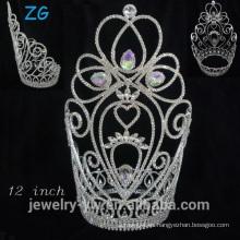 Coronas grandes del desfile de belleza de la manera, corona Wedding, princesa Crown para la muchacha