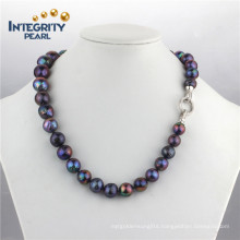 10-13mm AA Edison Fashion Frehswater Black Pearl Necklace