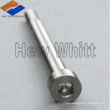 Titanium shallow head hex socket bolt