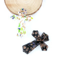Handmade Gold Sand Lampwork Glass Cross Pendant 12pcs/box, MC0092