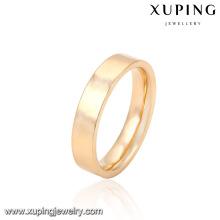 14028- Xuping estilo comum homem e mulher unsex gênero latão anel