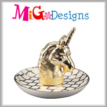 Eleganter tierischer geformter keramischer Ring-Halter mit dem Galvanisieren