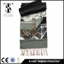 Echarpe novo do jacquard da forma do projeto da venda quente no lenço longo muito macio dos homens do toque da mão