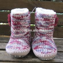 Bottes d'intérieur tricotées pour femmes