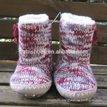 knitted indoor boots for women multicolor cashmere warm home boot