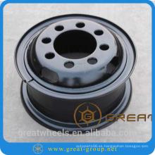 Pintura en aerosol borde de rueda de acero 6.50-15 para montacargas