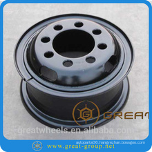 Spray painting steel wheel rim 6.50-15 for forklifts
