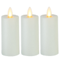 set o f 2 plastic fireless luminara votive candle with moving flame