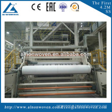 AL-3200mm S 3.2m Single Beam PP Spunbond Non Woven Fabric Making Machine for Shopping Bags , Shoes Bags