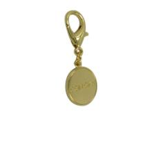 Dongguan Factory Customized Rould Gold Metal Keyring