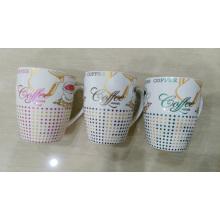 Taza de vajilla de cerámica personalizada con mango
