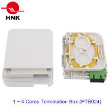 FTTH 1 Porta Optical Micro Caixa de Terminação para adaptadores Sc