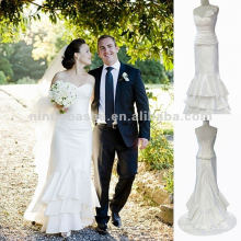 NY-1566 Robe à bretelles sans bretelles avec robe de mariée drapée