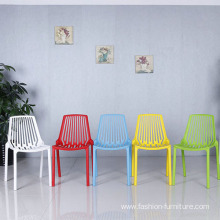 China Gold Supplier for China Plastic Chairs, Plastic Folding Chair, Plastic Dining Chair Manufacturer Modern dining polypropylene plastic armless chair export to United States Wholesale
