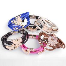 Charming handmade leather woven bracelet