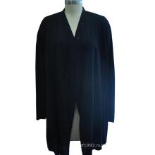 Длинный вязаный свитер с длинным рукавом из мануфактуры для дам