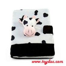 Cuaderno de vaca de felpa para niños