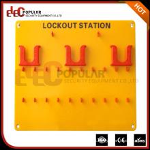 Elecpopular New Arrival Excelente resistência ao envelhecimento Yellow 10-20 Lockout Tagout Station