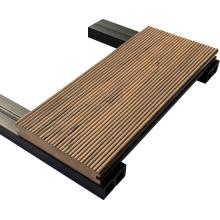Composite en plastique en bois solide de plancher extérieur solide de couleur d'art de haute résistance