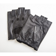 Men′s Fashion Fingerless Goatskin Leather Driving Sports Gloves (YKY5204-2)
